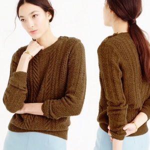 J. Crew Perfect Cable Knit Crewneck Sweater, sz. M